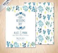 color flower wedding invitation card vector ai