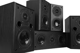 home theater subwoofer fluance av5htb dynamic home theater surround sound 5 0 channel