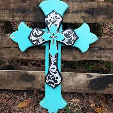 decorative crosses for wall best turquoise rustic decor products on wanelo