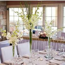 Flower Arrangements For Tall Vases Make Wedding Centerpieces Using White Vases