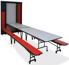Wall Mounted Folding Table In Wall Cafeteria Tables Folding Equipment Company Llc