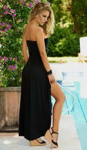 black strapless dress casual naf dresses