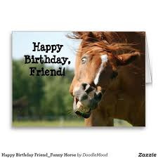 happy birthday friend funny horse greeting card stuff sold on