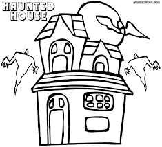 haunted house coloring pages coloring pages to download and print