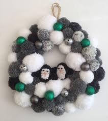 pompom christmas wreath