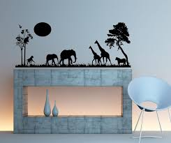 safari scene wall decal home decor 13
