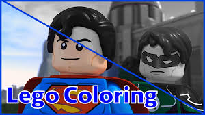 lego coloring pages superman and green lantern lego coloring