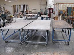Metal Work Tables West Auctions Auction Window Manufacturing Company In Vacaville