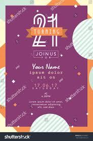 Birthday Invitation Card Template Birthday Invitation Card Design Card Template Stock Vector