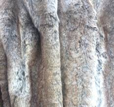 Faux Fur Comforter Gray Silver Tan Raccoon Wolf Fake Faux Fur Blanket Throw Comforter