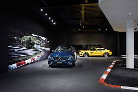 mercedes showroom mercedes amg opens its first ever standalone showroom in tokyo