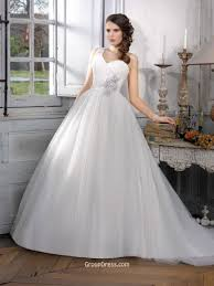 sweetheart one shoulder court train timeless bridal ball gown