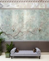 supremely elegant and beautiful prunus is painted in an