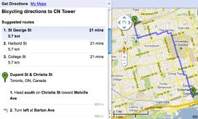 Google Maps Route Planner by Google Bike Maps Go Live In Toronto