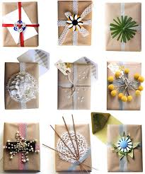 brown gift wrapping paper burlap and brown paper gift wrap ideas crafts a la mode