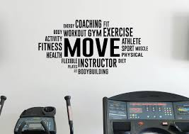 word cloud gym wall decal fitness workout vinyl sticker sport home