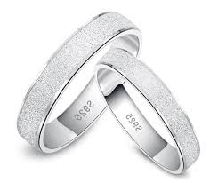 wedding bands for him silver wedding rings for him and matching couples his and hers