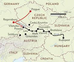 Munich Germany Map by Romantic Danube Itinerary U0026 Map Wilderness Travel