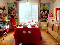 Mickey Mouse Room Decorations Homemade Mickey Mouse Crafts And Decorations Mad In Crafts