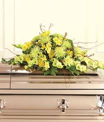 casket sprays classic yellow casket spray at from you flowers