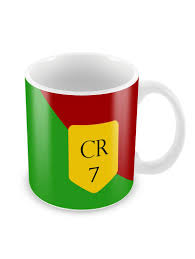 Buy Coffee Mugs Online India by Cr7 For Ronaldo Fans Coffee Mugs By Madanyu Ceramic Printed
