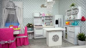 american doll dining table american doll kitchen and dining room tour youtube