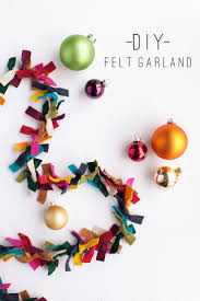 tell felt garland mantle garlands and christmas tree