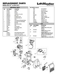 liftmaster rsw12v parts diagram