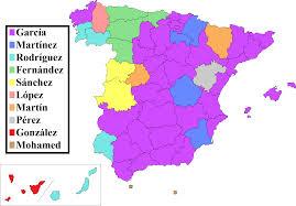 Map Of Central America In Spanish by El Centro De Muchos Colores U003e Culture U003e Popular Spanish Last Names