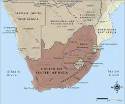 a picture of south africa map map of south africa in 1914 nzhistory new zealand history