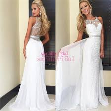 white graduation dresses for 8th grade 2015 white chiffon and sequin prom dresses for summer 8th