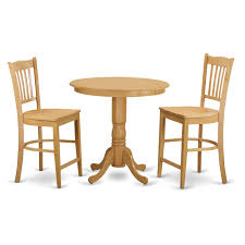 solid wood counter height table sets cream natural solid wood 3 piece counter height dining table set