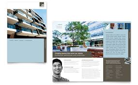 architect brochure template word u0026 publisher