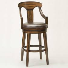 Wooden Swivel Bar Stool Wooden Swivel Bar Stools With Backs Wood Back And Arms Stool