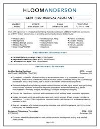 resume templates medical assistant medical assistant resume