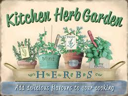 Kitchen Herb by Tin Sign Kitchen Herb Garden Shed Mum Gift Retro Vintage Metal Tin