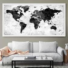 White Walls Home Decor Best 25 World Map Wall Decor Ideas On Pinterest World Map