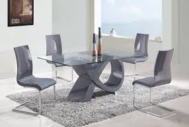 modern glass kitchen table rectangular black polished wooden dining table modern dining room