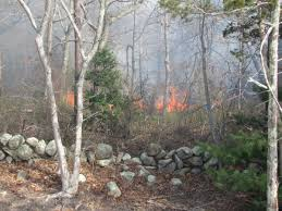 large brush fire in west barnstable