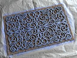 spray painted door mats organize and decorate everything