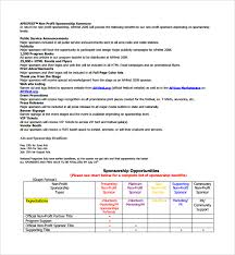 sponsorship proposal template doc 600700 sample of sponsorship