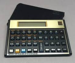 hp 12c financial calculator with case hewlett packard tested