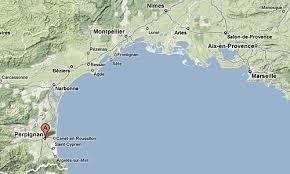 map of perpignan region perpignan eyeflare