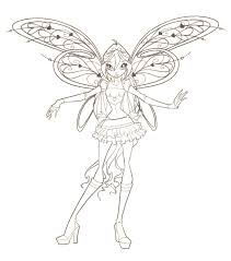 fairies to print and color winx club coloring pages winxclub