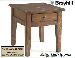 broyhill attic retreat end table broyhill oak end tables attic heirlooms rustic oak apothecary coffee