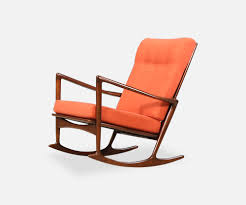 Modern Outdoor Rocking Chairs Ib Kofod Larsen Rocking Chair By Selig Danish Modern L A