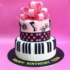 music themed stacked cake fondant cakes jb kl penang