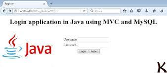 cara membuat database dengan mysql front login application in java using mvc and mysql krazytech