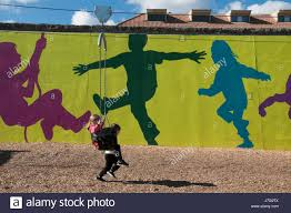 melbourne murals stock photos melbourne murals stock images alamy children play at booran reserve a newly opened playground in glenhuntly melbourne