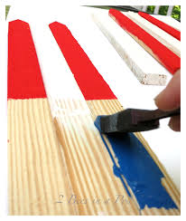 Wooden Nautical Flags Diy Usa Wooden Flag Made With Grade Stake Pickets 2 Bees In